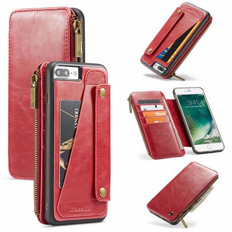 caseme 011 iphone 7 plus wallet case red