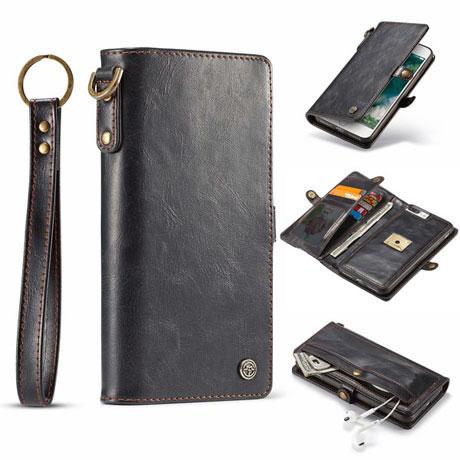 caseme iphone 7 plus qin wallet case black