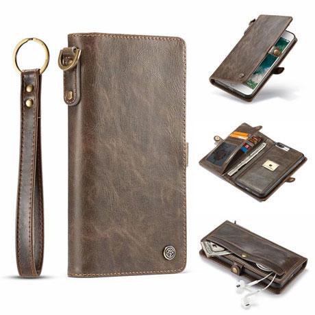 caseme iphone 7 plus qin wallet case brown