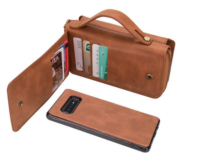 BRG Samsung Galaxy S10 Detachable Zipper Wallet Case