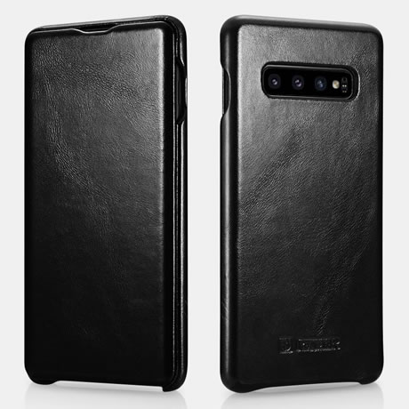 iCarer Samsung Galaxy S10 Genuine Leather Case Black