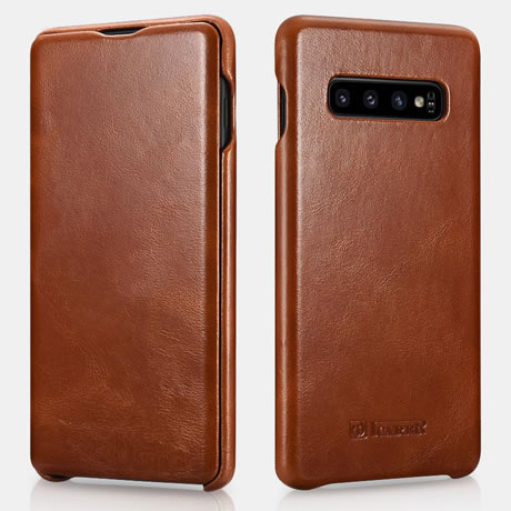 iCarer Samsung Galaxy S10 Genuine Leather Case Brown