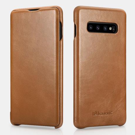 iCarer Samsung Galaxy S10 Genuine Leather Case Khaki