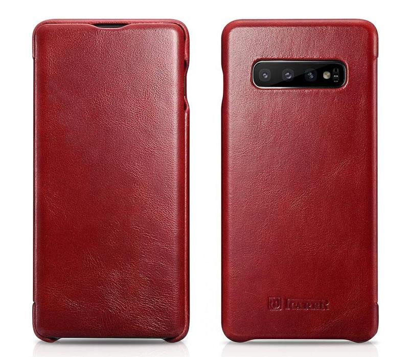 iCarer Samsung Galaxy S10 Curved Edge Vintage Genuine Leather Case
