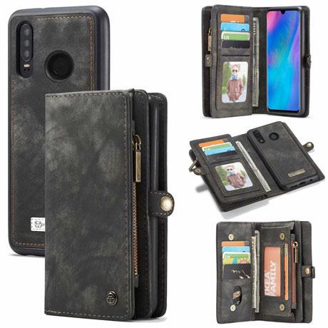 caseme huawei p30 lite wallet case black