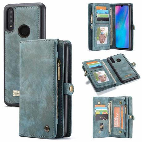 caseme huawei p30 lite wallet case blue