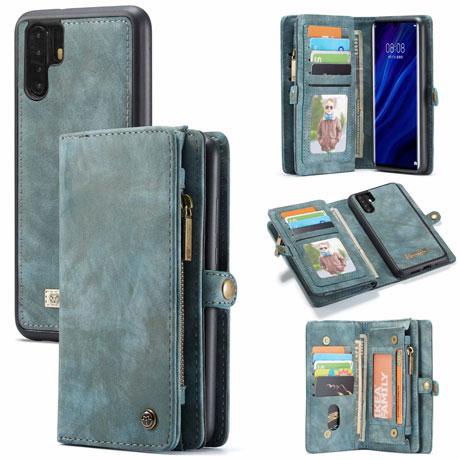 caseme huawei p30 pro wallet case blue
