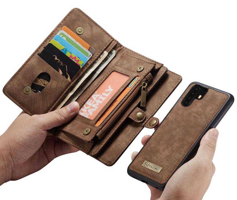 CaseMe Huawei P30 Pro Detachable Zipper Wallet Case