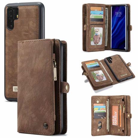 caseme huawei p30 pro wallet case brown