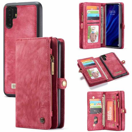 caseme huawei p30 pro wallet case red