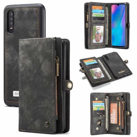 caseme huawei p30 wallet case black