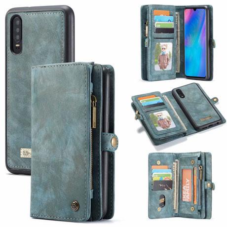 caseme huawei p30 wallet case blue