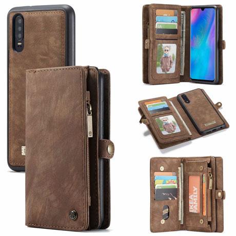 caseme huawei p30 wallet case brown