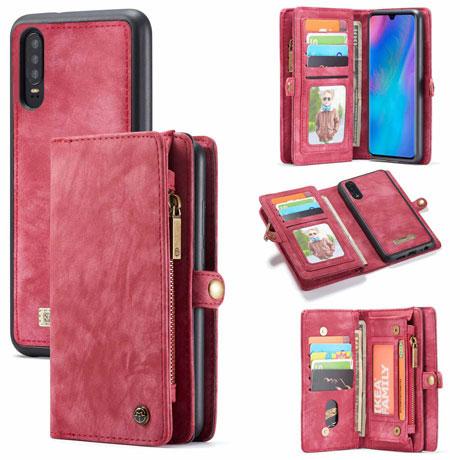 caseme huawei p30 wallet case red
