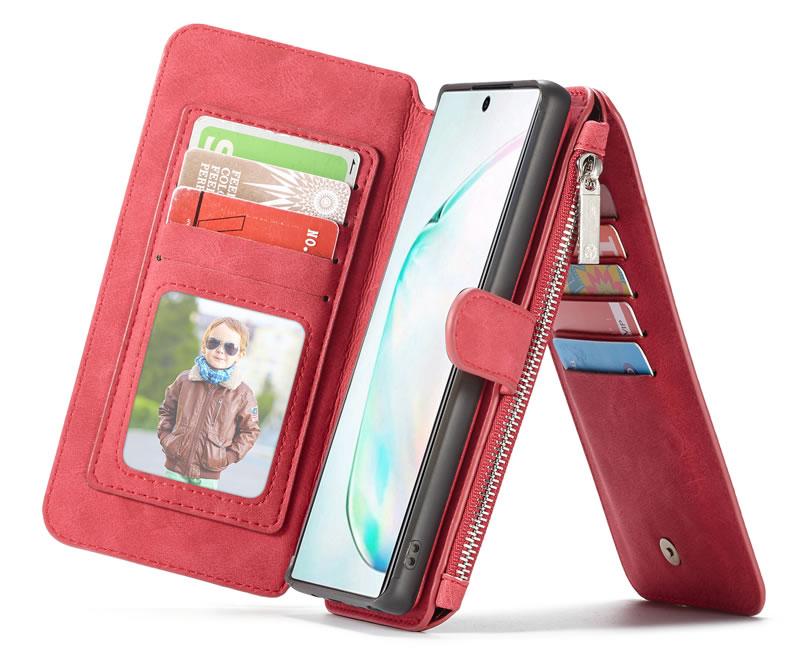 CaseMe Samsung Galaxy Note 10 Plus Detachable Zipper Wallet Case