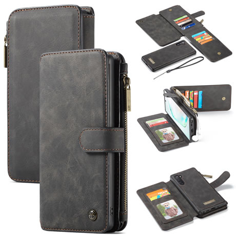 CaseMe 007 Samsung Galaxy Note 10 Wallet Case Black