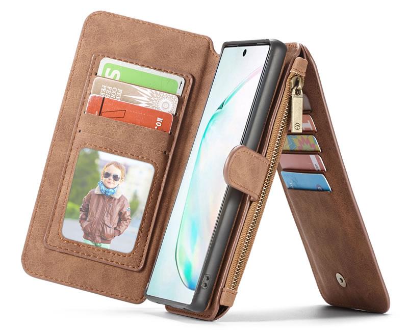 CaseMe Samsung Galaxy Note 10 Detachable Zipper Wallet Case