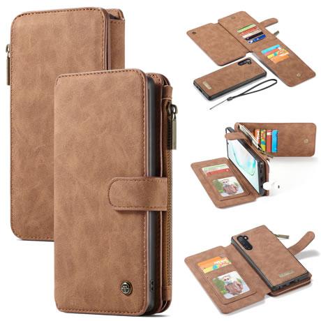 CaseMe 007 Samsung Galaxy Note 10 Wallet Case Brown