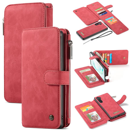 CaseMe 007 Samsung Galaxy Note 10 Wallet Case Red