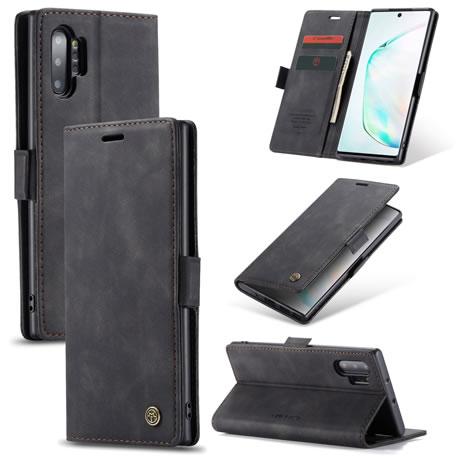 CaseMe 013 Samsung Galaxy Note 10 Plus Wallet Case Black