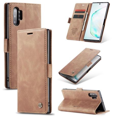 CaseMe 013 Samsung Galaxy Note 10 Plus Wallet Case Brown