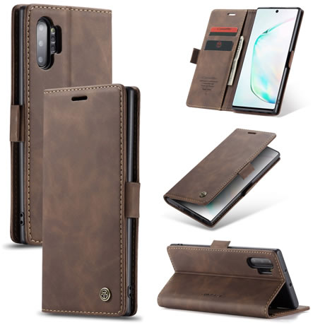 CaseMe 013 Samsung Galaxy Note 10 Plus Wallet Case Coffee