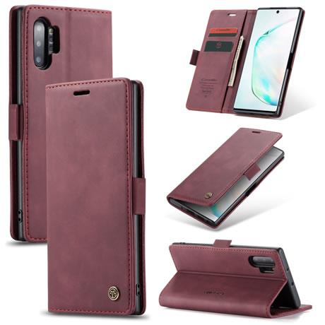 CaseMe 013 Samsung Galaxy Note 10 Plus Wallet Case Red