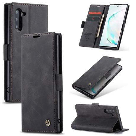 CaseMe 013 Samsung Galaxy Note 10 Wallet Case Black
