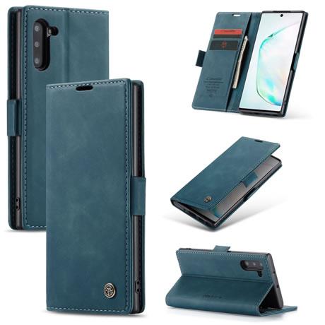 CaseMe 013 Samsung Galaxy Note 10 Wallet Case Blue