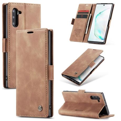 CaseMe 013 Samsung Galaxy Note 10 Wallet Case Brown