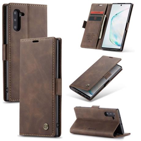 CaseMe 013 Samsung Galaxy Note 10 Wallet Case Coffee