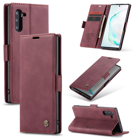 CaseMe 013 Samsung Galaxy Note 10 Wallet Case Red