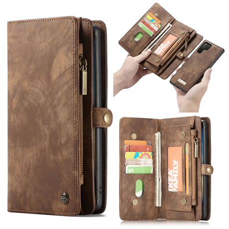 CaseMe Samsung Galaxy Note 10 Pro Wallet Case Brown
