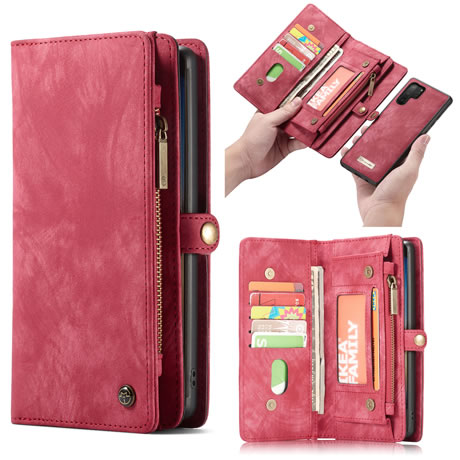CaseMe Samsung Galaxy Note 10 Pro Wallet Case Red