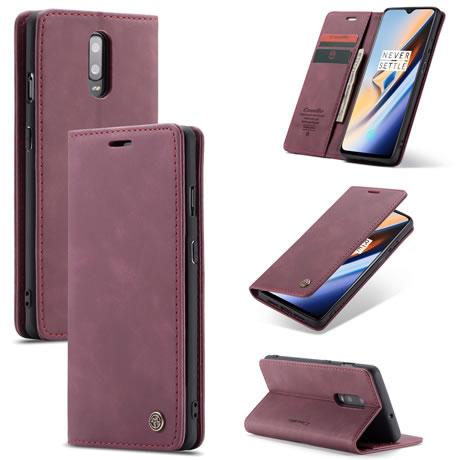 Caseme 013 OnePlus 7 wallet case Red