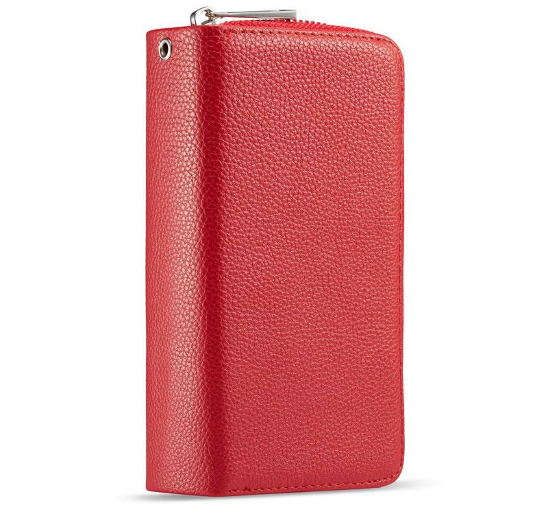 BRG Samsung Galaxy Note 10 Litchi Texture Zipper Wallet Case