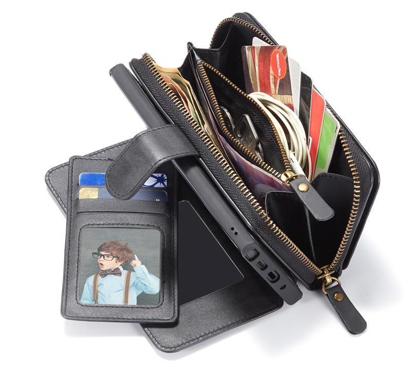 BRG Samsung Galaxy Note 10 Plus Detachable 2 in 1 Zipper Wallet Case