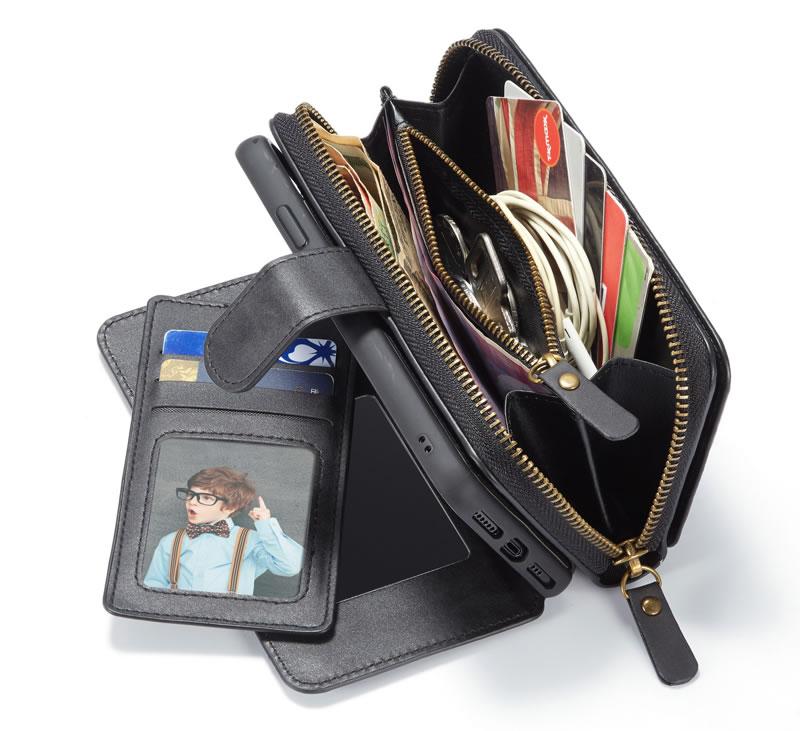 BRG iPhone 11 Pro Max Detachable 2 in 1 Zipper Wallet Case