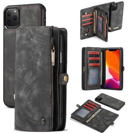 CaseMe 008 iPhone 11 Pro Max Wallet Case Black