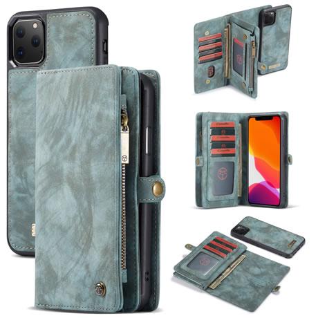 CaseMe 008 iPhone 11 Pro Max Wallet Case Blue