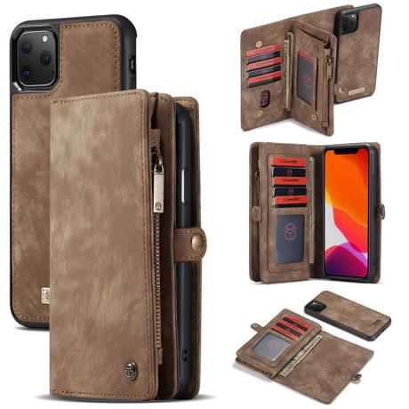 CaseMe 008 iPhone 11 Pro Max Wallet Case Brown