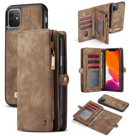 CaseMe 008 iPhone 11 wallet case brown