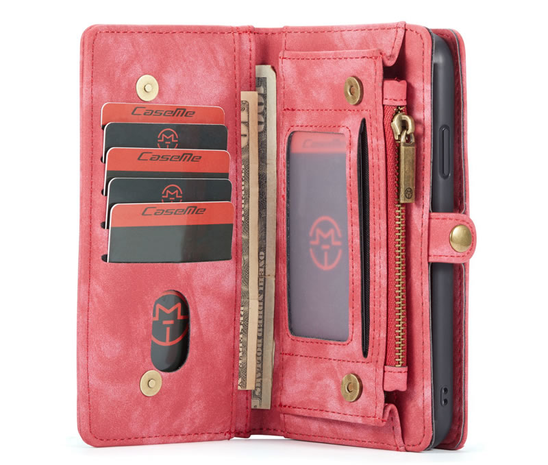 CaseMe iPhone 11 Magnetic Detachable Zipper Wallet Case