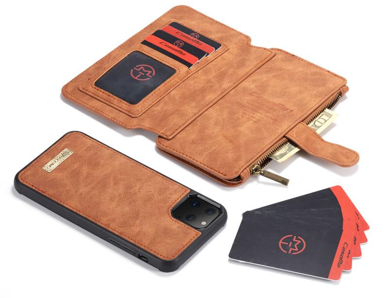 CaseMe iPhone 11 Pro Max Zipper Leather Wallet Case