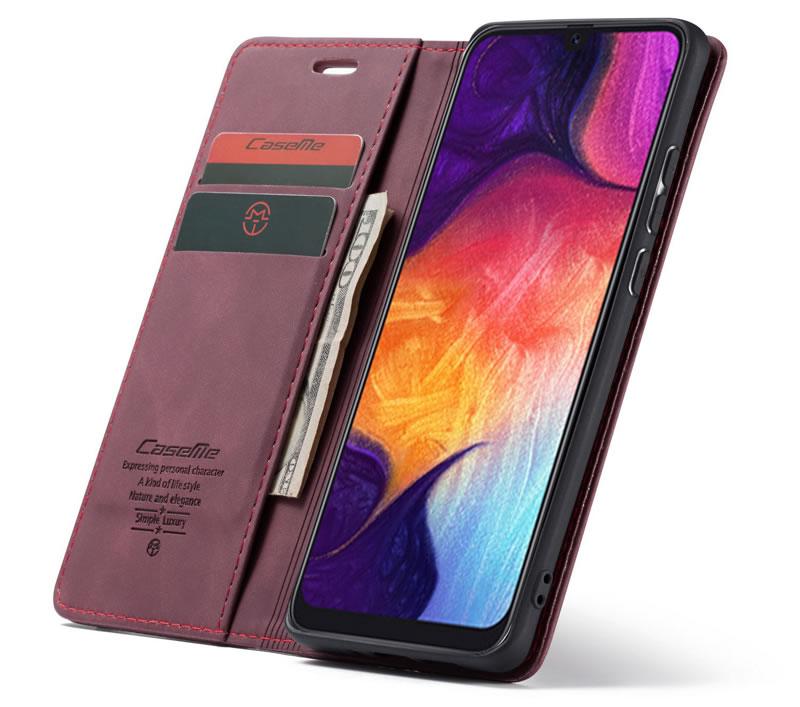CaseMe Samsung Galaxy A50 Leather Wallet Case