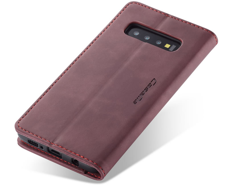 CaseMe Samsung Galaxy S10 Leather Wallet Case