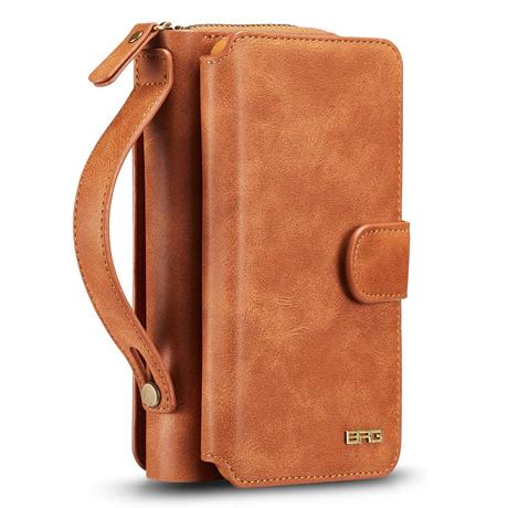 BRG iPhone 12 Pro Zipper Wallet Case