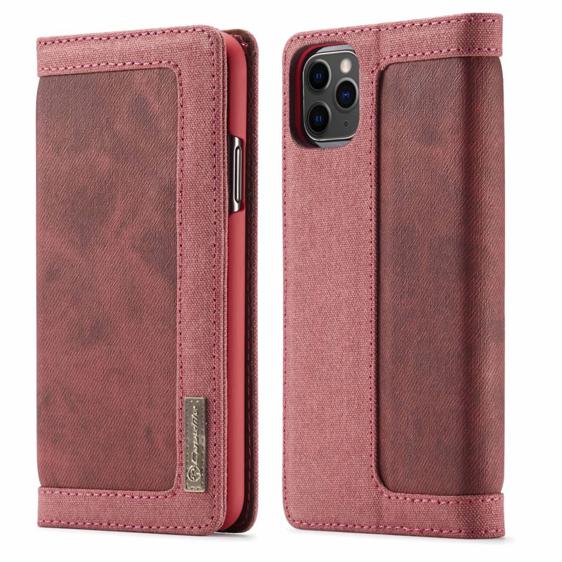 CaseMe iPhone 11 Pro Max Canvas Wallet Case