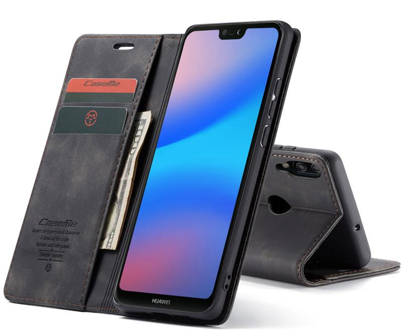 CaseMe Huawei P20 Lite Leather Wallet Case