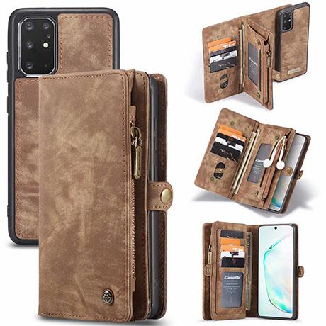 CaseMe 008 Samsung Galaxy S20 Plus wallet case brown